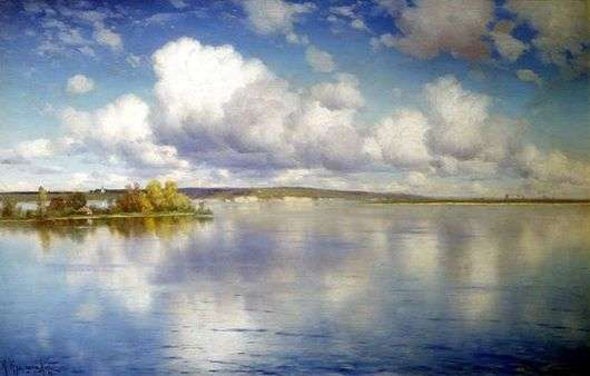 Описание картины Константина Крыжицкого «Озеро»