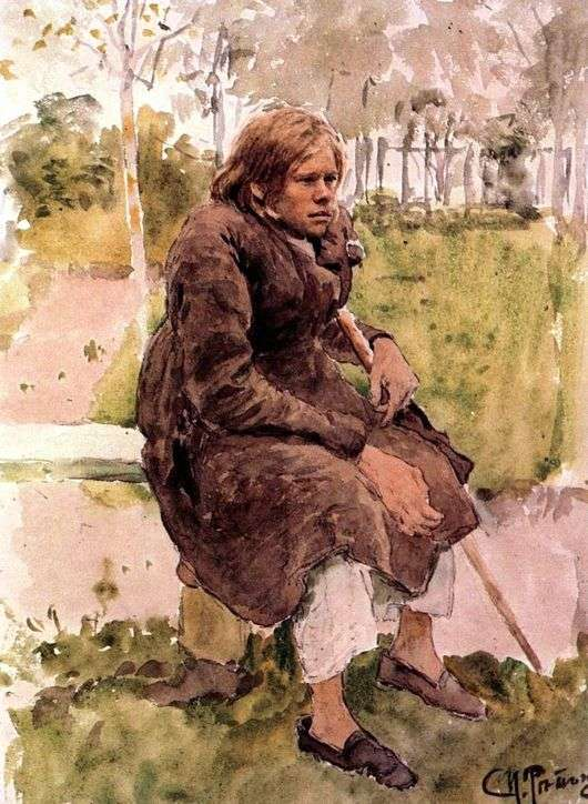 Описание картины Ильи Репина «Горбун»