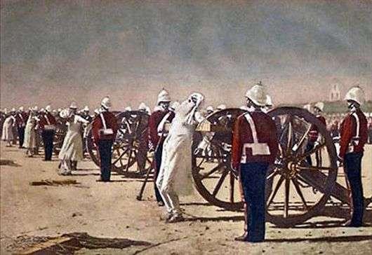 Описание картины Василия Верещагина «Подавления индийского восстания англичанами»