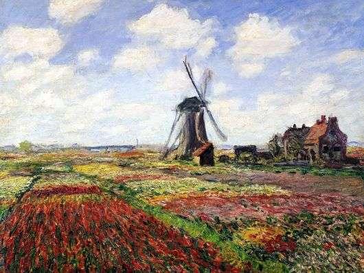 Описание картины Клода Моне «Тюльпаны Голландии»