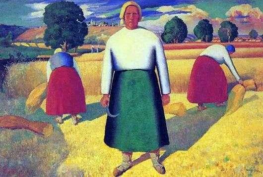 Описание картины Казимира Малевича «Жницы»