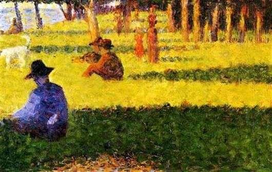 Описание картины Жоржа Сера «Белая собака»