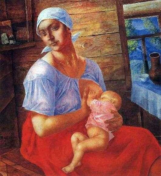 Описание картины Кузьмы Петрова Водкина «Мать»