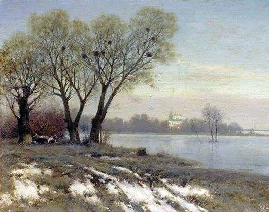 Описание картины Константина Крыжицкого «Ранняя весна»