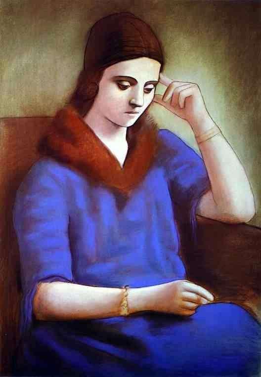 Описание картины Пабло Пикассо «Портрет Ольги Пикассо»
