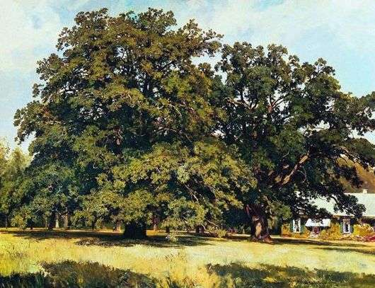 Описание картины Ивана Шишкина «Мордвиновские дубы»