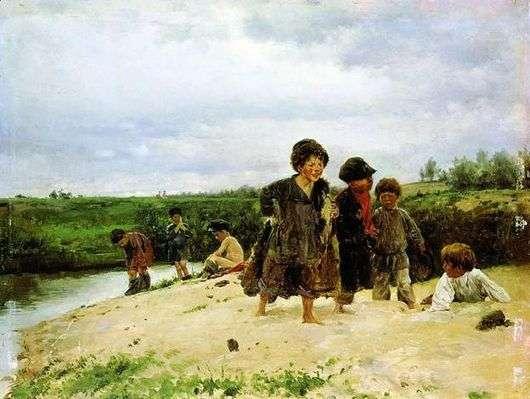 Описание картины Владимира Маковского «От дождя»