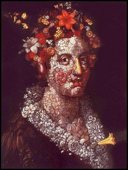 Описание картины Джузеппе Арчимбольдо «Флора»