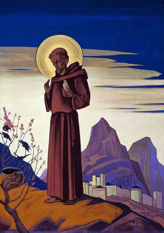 Описание картины Николая Рериха «Святой Франциск Ассизский»