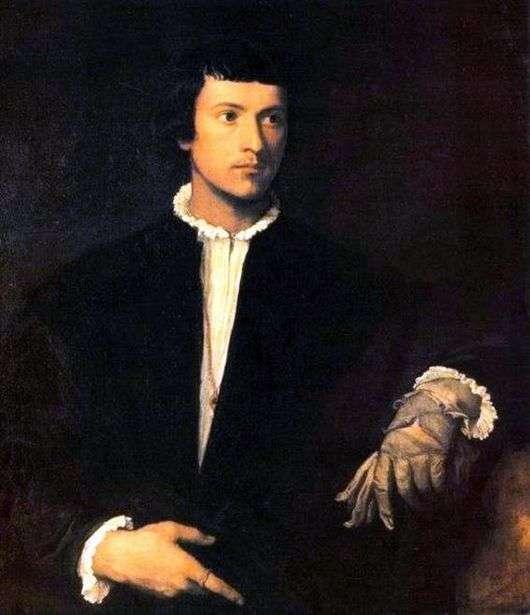 Описание картины Вечеллио Тициана «Юноша с перчаткой»