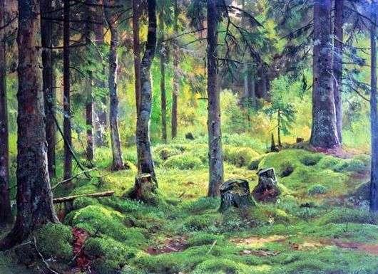 Описание картины Ивана Шишкина «Валежник»