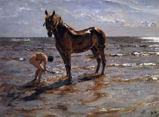 Описание картины Валентина Серова «Купание лошади»