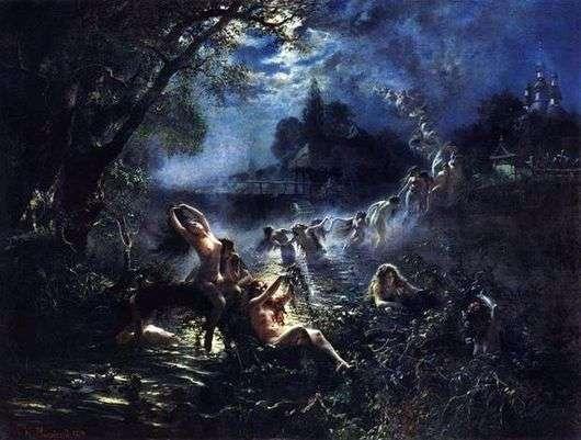 Описание картины Константина Маковского «Русалки»