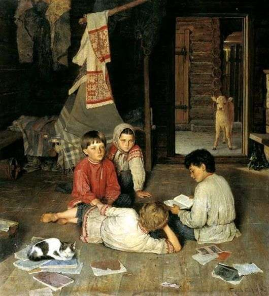 Описание картины Николая Богданова Бельского «Новая Сказка»