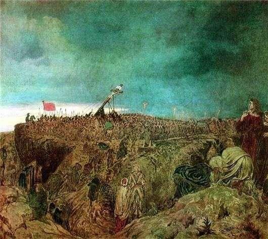 Описание картины Ильи Репина «Голгофа»