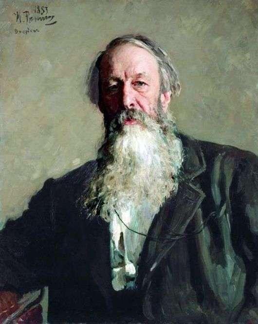 Описание картины Ильи Репина «Портрет В. В. Стасова»