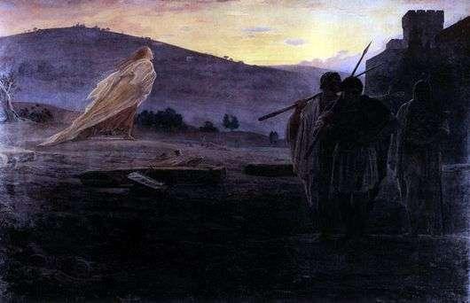Описание картины Николая Ге «Вестники Воскресения»
