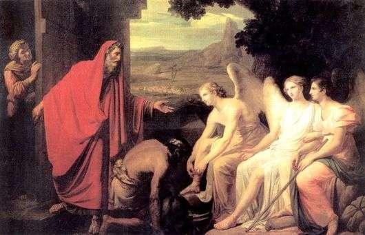Описание картины Карла Брюллова «Явление Аврааму трех ангелов у дуба Мамврийского»