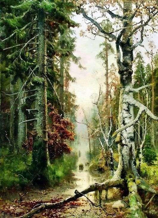 Описание картины Юлия Клевера «Осень в лесу»