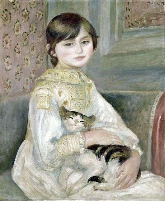 Описание картины Пьера Огюста Ренуара «Жюли Мане с кошкой»