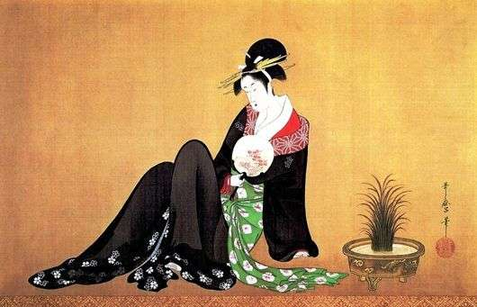 Описание картины Китагава Утамаро «Красавица»
