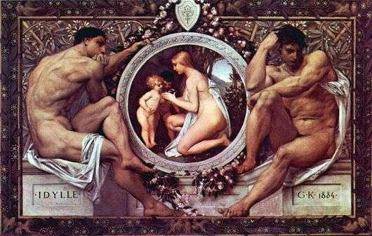 Описание картины Густава Климта «Идиллия»