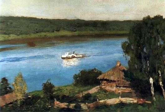 Описание картины Исаака Левитана «Пейзаж с пароходом»