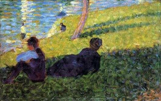 Описание картины Жоржа Сёра «Мужчина и женщина»