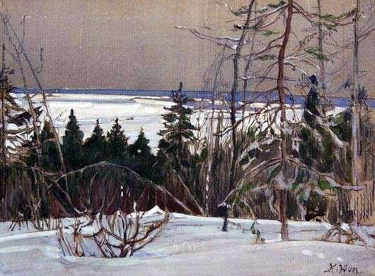 Описание картины Константина Юона «Зимний лес»