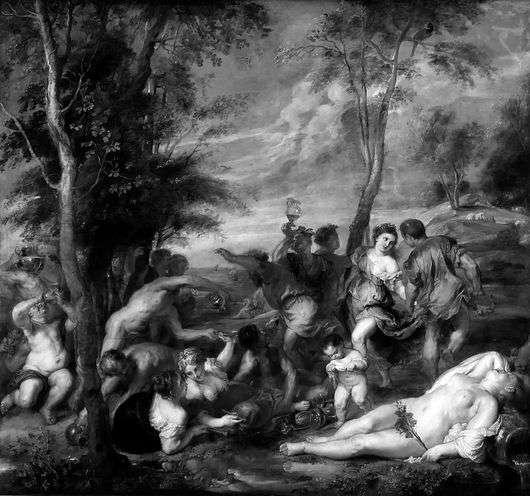 Описание картины Вечеллио Тициана «Вакханалия»