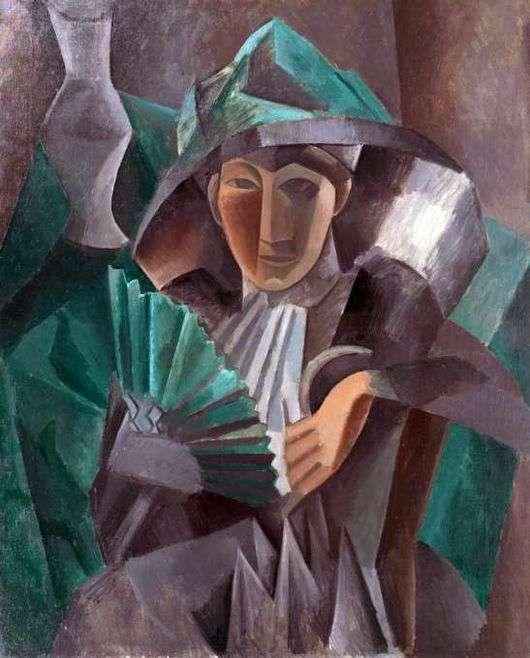 Описание картины Пабло Пикассо «Женщина с веером»