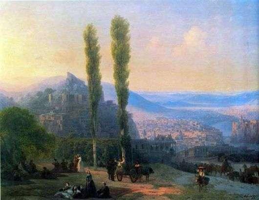 Описание картины Ивана Айвазовского «Вид Тифлиса»