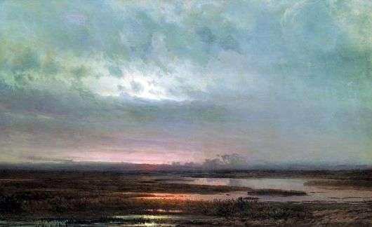 Описание картины Алексея Саврасова «Закат над болотом»