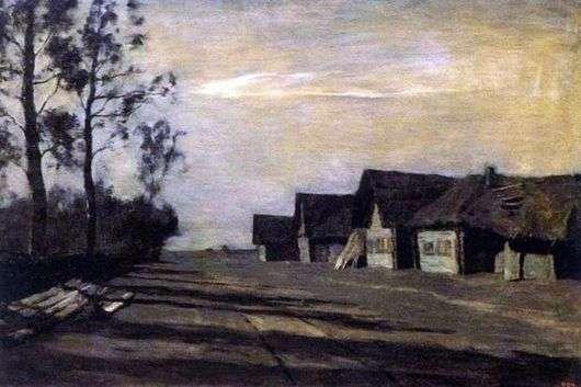 Описание картины Исаака Левитана «Лунная ночь. Деревня»
