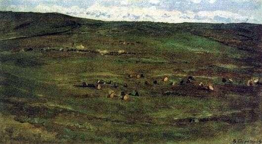 Описание картины Василия Сурикова «Табун лошадей в Барабинской степи»