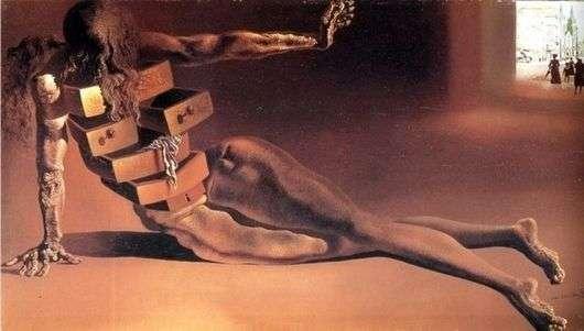 Описание картины Сальвадора Дали «Антропоморфный шкафчик»