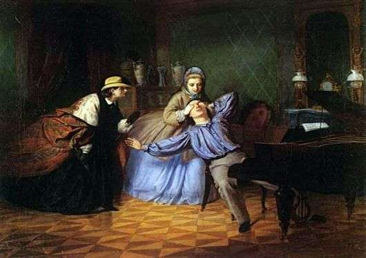 Описание картины Фирса Журавлёва «Угадай, кто пришёл…»