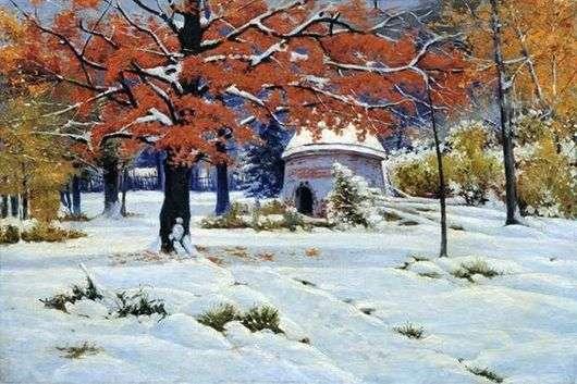 Описание картины Константина Крыжицкого «Ранний снег»