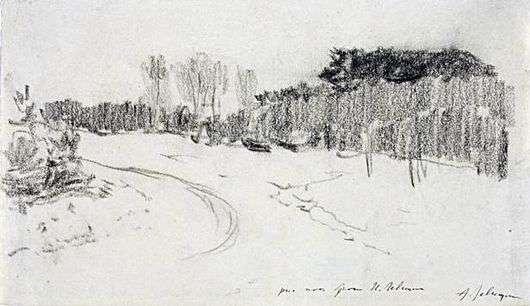 Описание картины Исаака Левитана «Зимняя дорога в лесу»