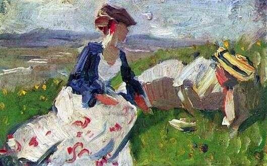 Описание картины Франца Марка «Две женщины»