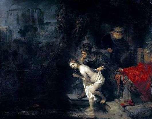 Описание картины Рембрандта Харменса ванн Рейна «Сусанна и старцы»