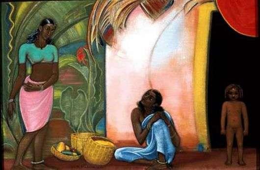 Описание картины Святослава Рериха «Мои соседи»
