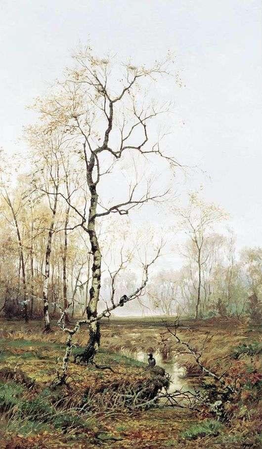 Описание картины Ефима Волкова «В лесу. По весне»