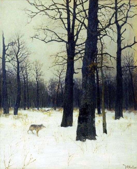 Описание картины Исаака Левитана «Зимой в лесу»