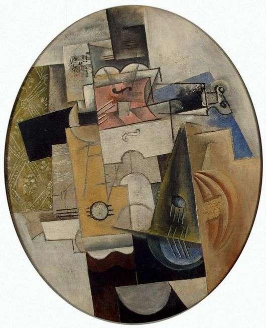 Описание картины Пабло Пикассо «Музыкальные инструменты»