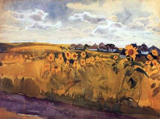 Описание картины Зинаиды Серебряковой «Осень»