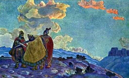 Описание картины Николая Рериха «Короны»