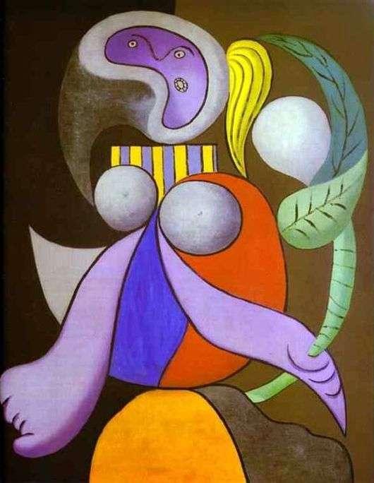 Описание картины Пабло Пикассо «Женщина с цветком»