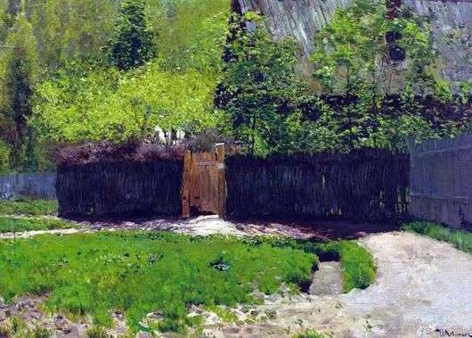 Описание картины Исаака Левитана «Первая зелень. Май»