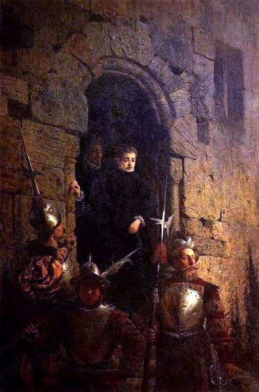 Описание картины Василия Поленова «Арест гугенотки»